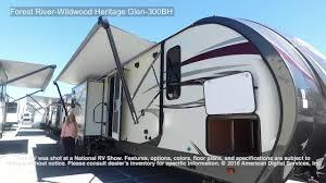 Wildwood Fifth Wheel Floor Plans Colors Forest River Wildwood Heritage Glen 300bh Youtube