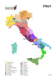 Italy Wine Map By Fermentedgrape