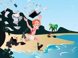 bureau fond d ran office worker ran away on vacation rest from work awaited