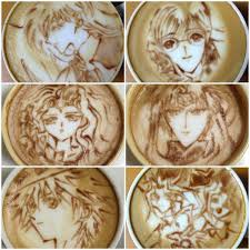 Cappuccino Art Anime 14022