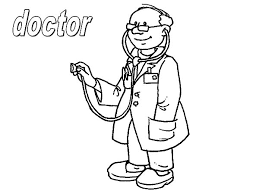 Doctor On Jobs Coloring Pages