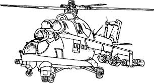 Pin Drawn Helicopter Colouring Page 5