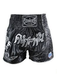 sandee unbreakable black silver muay thai kick boxing shorts