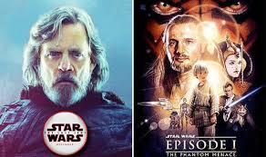 Luke And Phantom Menace Poster LUCASFILM Star Wars