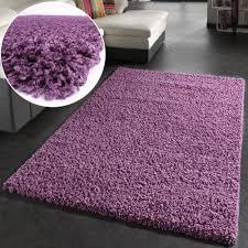 shaggy hochflor langflor teppich sky einfarbig in lila