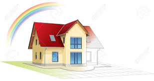 House Building by House From Sketch To Colorful Reality Rainbow Building