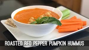 Pumpkin Hummus Recipe by Roasted Red Pepper Pumpkin Hummus Youtube