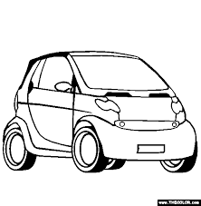 Brabus Smart Car Coloring Page