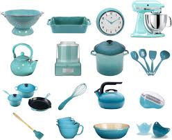 Brighten Your Kitchen With Retro Aqua Tools And Appliances