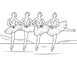 Swan Lake Ballet Coloring Page