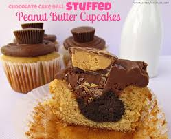 Chocolate Cake Ball Stuffed Peanut Butter Cupcakes Crazy for Crust