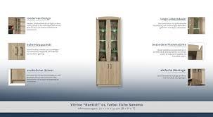 esszimmerschrank vitrine 75 cm breit optik sonoma eiche