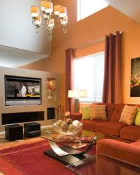 Brown Couch Living Room Color Schemes by Pretty Living Room With Beige Accents Wall Feat Brown Sectional