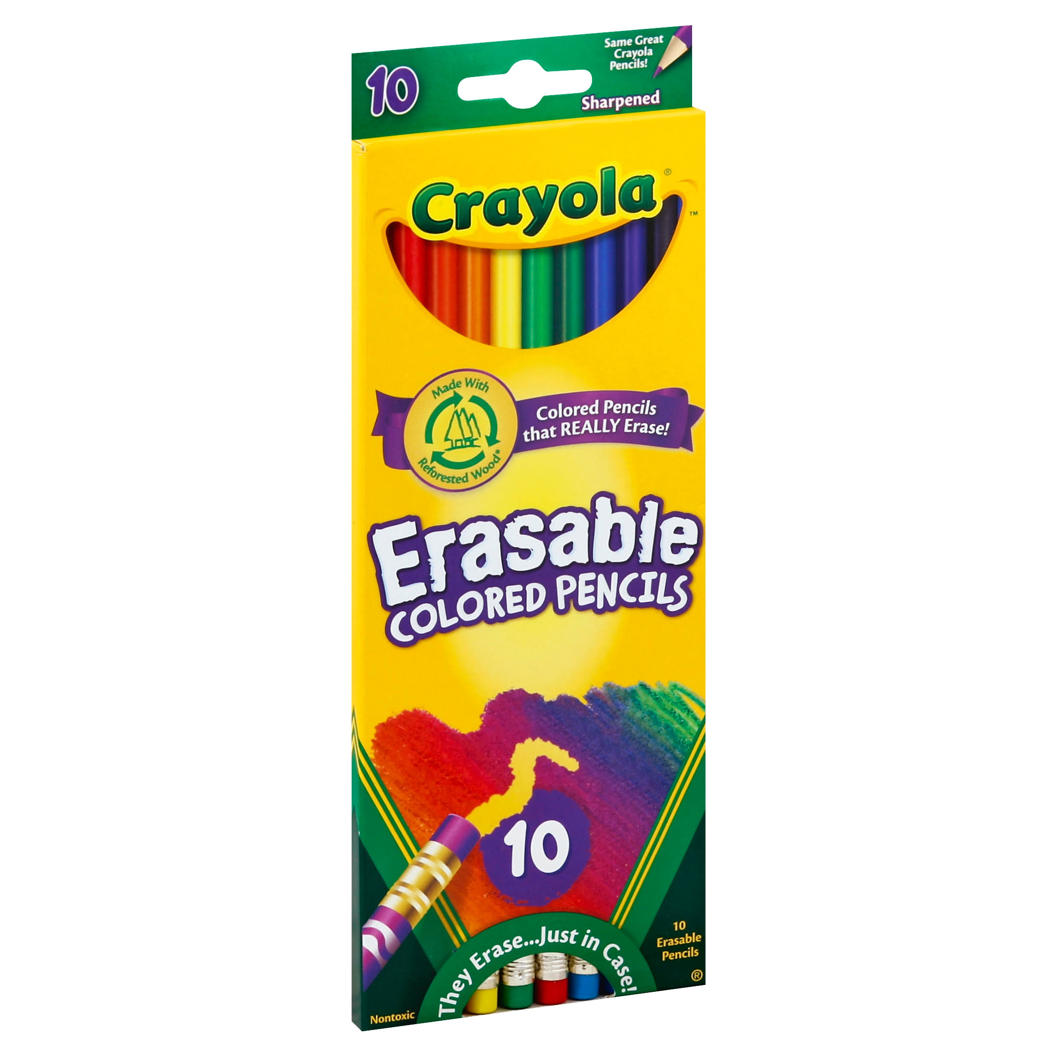 Crayola Erasable Colored Pencils - 10 Colours