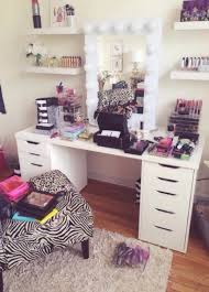 White Makeup Desk With Lights by Bedroom Vivacious Mesmerizing Glass Shelf Makeup Desks And
