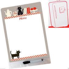 tableau memo cuisine mémo magnet chats gris tableau magnétique pense bête aimanté frigo