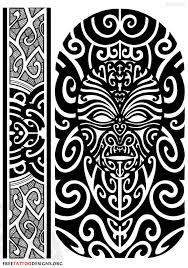 Maori Tattoo Design Face And Armband