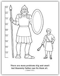 David And Goliath Scripture Sticks Stones Discussion Coloring Sheet