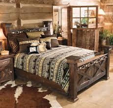 Rustic Antler Barnwood Bed King