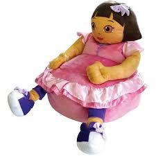 Dora The Explorer Kitchen Set Walmart by Nickelodeon Dora The Explorer Figural Bean Bag Chair Walmart Com