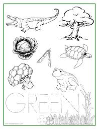 GREEN Color Activity Sheet