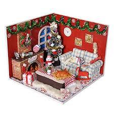 per maison de poupée en bois miniature de maison diy jeux de