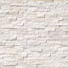 Arctic White Ledger Panel Natural Quartzite Wall Tile 30 Pieces Brick