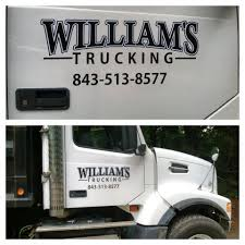Vinyl Truck Door Logos - Williams Trucking - Summerville Signs And ...