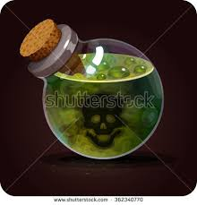 cuisine n駱alaise bottle poison icon magic elixir stock vector 362340770