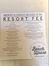 Grand Cayman Marriott Beach Resort List Of Fee Amenities