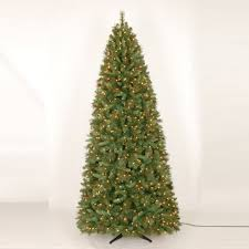 9ft Aspen Mountain Slim Christmas Tree With Clear Lights