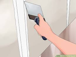 Hanging Drywall On Ceiling Or Walls First by How To Install Drywall With Pictures Wikihow