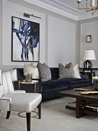 Contemporary Formal Carpeted Living Room Idea In London With Gray Walls