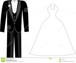 Wedding Dress Clipart Tuxedo Pencil And In Color Wedding Dress