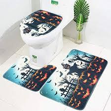 fortantoz kürbis laterne wc sitzbezug und teppich
