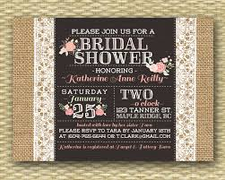 Burlap Lace Bridal Shower Invitation Rustic Brunch Pink