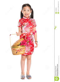 chinese holding a gift basket stock photos image 33449633