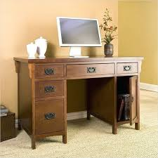 cute small wood computer desk with drawerand pull out keyboard for