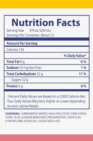 Tropical Strawberry Soda Original Product Of Ecuador Nutrition Facts
