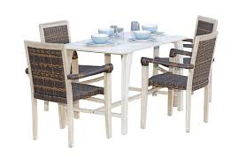 Amazon.com - EcoDecors Coastal Vogue Tranquility 47in Teak Indoor ... Teak Hardwood Ash Wicker Ding Side Chair 2pk Naples Beautiful Room Table Wglass Model N24 By Rattan Kitchen Youtube Pacific Rectangular Outdoor Patio With 6 Armless 56 Indoor Set Looks Like 30 Ikea Fniture Sicillian 8 Seater Square Stone And Chairs In Half 100 Handmade Tablein Garden Sets Burridge 4ft Round In Antique White Oak World New Ideas Awesome Unique Black