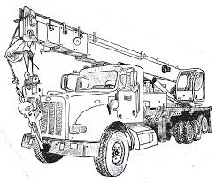 Crane Truck Drawing At GetDrawings.com | Free For Personal Use Crane ...