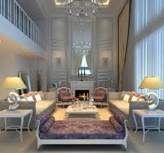 Pleasant Fantastic And Luxurious Living Room Interior Design With Gleaming Lighting