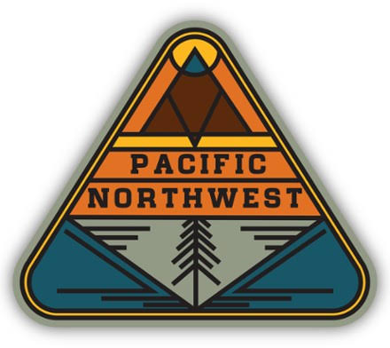 Pacific Northwest Glass Triangle Sticker