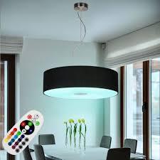 etc shop led pendelleuchte hängeleuchte esstisch pendelleuchte schwarz rund wohnzimmerle modern hängend mit farbwechsel und dimmer textil und