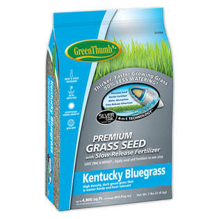 DLF Greun215 Green Thumb Premium Coated Kentucky Grass Seed - Bluegrass, 7lb
