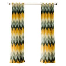 Yellow And White Chevron Curtains by Chevron Curtains Gray Yellow Blue Black And White