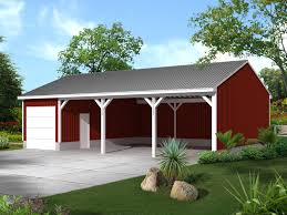 McDonald Pole Building Shed Plan 002D 7505