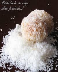 boule de neige petits gâteaux à la noix de coco recette ptitchef