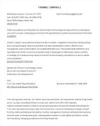 Resume Examples For Salon Receptionist Hairstylist Hair Stylist Samples Objective Job Beginner