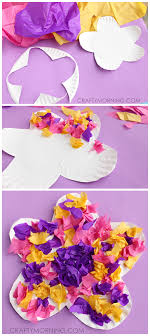 Easy Paper Plate Flower Craft Using Tissue Cute Spring Or Summer Art Project For Kids